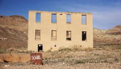 Rhyolite Ghost Town School - stock footage