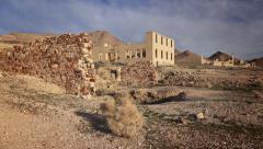 Rhyolite Ghost Town Building Ruins - stock footage