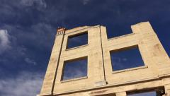 Rhyolite Ghost Town Bank Ruins - stock footage