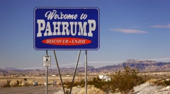 Welcome to Pahrump Nevada Sign Stock Footage