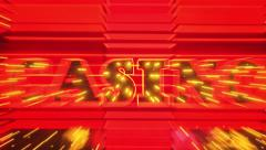 Word Casino in Neon Lights Zoom In and Out Stock Footage