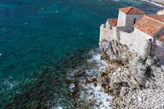 Old town Budva and Adriatic sea - stock photo