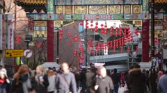 Chinese New Year Celebration in England, Manchester, Europe Stock Footage