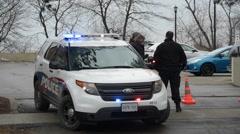 Police at Crime Scene Stock Footage