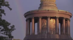 Berlin Victory Column End Of The Rainbow Stock Footage