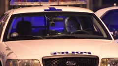 Police Officer Inside Vehicle - stock footage