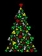 Goth Christmas Tree - stock illustration