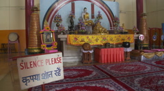View of Buddhist temple altar - stock footage
