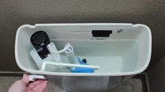 Modern flush toilet Stock Footage