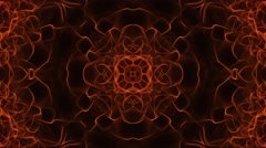 Kaleida Flame Background. 4K Animation. Abstract orange texture Stock Footage