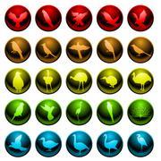 Stock Illustration of Bird icons