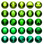 Leaf icons - stock illustration