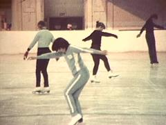 Ice Skating, 1980s Archive Footage - stock footage