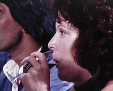 Dinner Party  - Women Eating 1980s Stock Footage