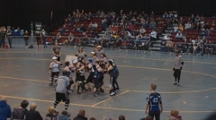 Women's Roller Derby - Wide, High Angle Stock Footage