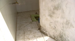 View of dirty toilet in India Stock Footage