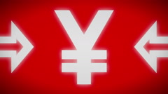 Yen icon. Looping. Stock Footage