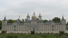 El Escorial displayed at the Mini-Europe, Brussels Stock Footage