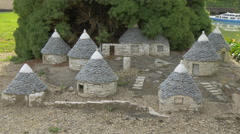 Alberobello displayed at the Mini-Europe, Brussels Stock Footage