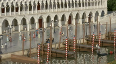 St. Mark Square from Venice displayed at the Mini-Europe, Brussels Stock Footage