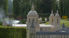 The dome and towers of the El Escorial displayed at the Mini-Europe, Brussels Stock Footage