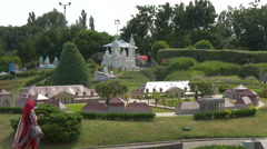 Sacré-Cœur and other scale models displayed at the Mini-Europe, Brussels Stock Footage