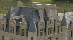 The roof of the Château de Chenonceau displayed at the Mini-Europe, Brussels Stock Footage