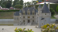 Entrance of the Château de Chenonceau displayed at the Mini-Europe, Brussels Stock Footage