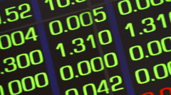 Close up shot of Stock prices on the Australian Stock Exchange in Sydney. Stock Footage