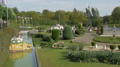 Scale models from Spain and other famous places at the Mini-Europe, Brussels Stock Footage