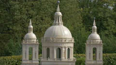 Close up of the dome and towers of El Escorial at the Mini-Europe, Brussels Stock Footage