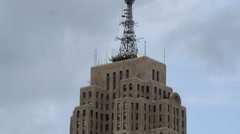 Tilting down shot of the Fisher building in Detroit. Stock Footage