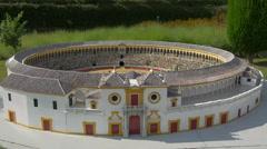 Plaza de Toros de Sevilla displayed at the Mini-Europe, Brussels Stock Footage