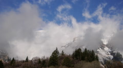 Timelapse shot of clouds blowing over Mt. Timpanogos, UT. - stock footage