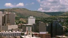 Timeplase shot of downtown Salt Lake City, looking east. Stock Footage
