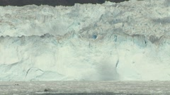 Panning tele shot along a glacier wall in Greenland Stock Footage