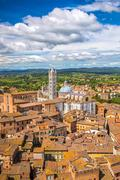 Aerial view of Siena - stock photo