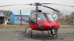 Small private helicopter - stock footage