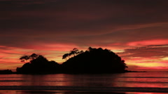 Remote Thai Island at Sunset - stock footage