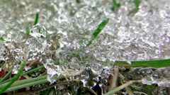 Melting Ice Snow In Spring Timelapse Stock Footage