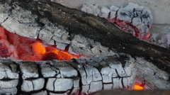 Wood burns in a stove. Stock Footage