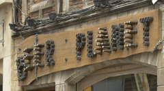 Beer planet store's entrance sign in Brussels Stock Footage