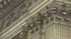 View of a building with Corinthian columns in Brussels - stock footage