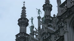 Brussels City Museum's sculptures and statues Stock Footage