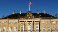 Zoom Out - Amalienborg Palace - Copenhagen Denmark Stock Footage