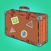 Suitcase traveler Luggage - stock illustration