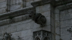 Gargoyle on the City Hall of Brussels in Grote Markt, Brussels Stock Footage