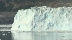 Timelapse of calving event on high glacier wall in the arctic Stock Footage
