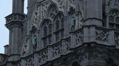 Tilt up view of Brussels City Museum Stock Footage
