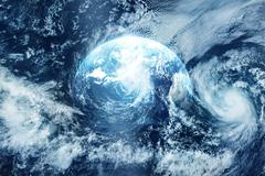 Strom on the earth, view from space, Original image from NASA.gov Stock Photos
